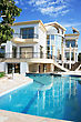 Luxurious Villa And Swimming Pool In Cyprus. stock photography