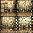 Luxury Golden Background Made In 3D Graphics
