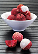 Exotic Fruits Lychee stock photography