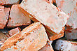 Macro Of Obsolete Red Bricks stock photography