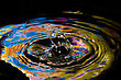 Hit Macro Photography Of Colorful Abstract Water Drop Creations stock image