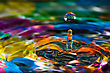 Macro Photography Of Colorful Abstract Water Drop Creations stock image