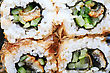 Macro Set Of Four Sushi With Tuna stock photography