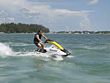 Man Riding Jetski stock image