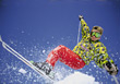Skiing Man Ski Jumping stock image