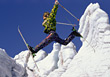 Skiing Man Trick Skiing stock photography
