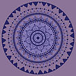 Yoga Mandala. Indian Decorative Pattern. Vector Illustration stock illustration