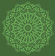 Mandala Isolated On Green Background. Round Ornament stock vector