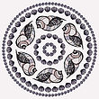 Mandala Made Of Seashells. Vector Decorative Background