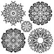 Mandala Set. Indian Decorative Pattern. Vector Hand Drawn Illustration