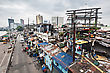 MANILA, PHILIPPINES - MARCH 18: Slum Region On March, 18, 2013, Manila, Philippines. Manila Is A Philippines Capital With Very Strong Contrasts In Standard Of Living