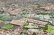 Manila Suburb, View From The Plane, Philippines stock photography