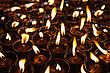 Many Candles Inside The Swayambhunath Temple, Kathmandu stock photo