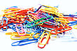 Many Colorful Paper Clips stock photo