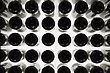 Many Wine Bottles. Bottom View stock photography
