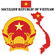 Map Flag And Coat Of Arms For Vietnam