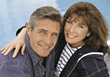 Mature Couple in Happy Embrace stock photography