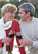 Mature Couple in Love stock image