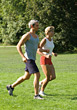 Mature Couple Jogging stock photo