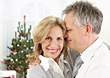 Mature Couple on Christmas stock photography