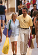 Mature Couple with Shopping Bags stock image