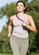 Mature Woman Jogging stock image