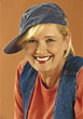 Mature Woman with Baseball Cap stock photography