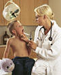 professionals pediatrics examination physicians blondes kids stock photography
