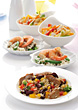 Meat and Seafood Entrees stock photo