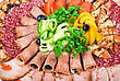 Meat Cuts With Vegetables stock photography