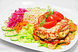 Meat Steak With Vegetables - Tasty Dish