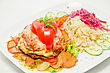 Meat Steak With Vegetables - Tasty Dish stock photography