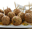 Meatball Appetizers,Close Up Shot stock photography