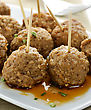 Meatball Appetizers,Close Up Shot stock image