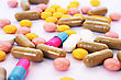 Pharmaceutical Medical Pills And Tablets stock photo