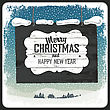 Merry Christmas Greeting Retro Card. Vector