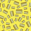 Metal Cans Seamless Pattern On Yellow Background