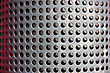 Metal Holed Or Perforated Grid Background stock photo