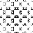 Metal Knuckles Silhouette Seamless Pattern On White