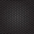 Metal Perforated Background. Dark Iron Perforated Texture