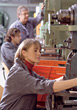 plant manufacturing profession adult workers factories stock photo