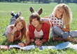 students homework teen outdoor college teenagers stock image
