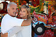Middle-aged Couple At Funfair stock image