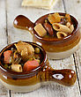 Minestrone Italian Noodle And Vegetable Soup stock photo