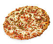 Pizza Mini Pizza Topped With Sausage And Pepperoni stock image