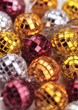 Miniature Decorative Mirror Balls stock image
