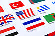 Mix Flags On White Background. stock image