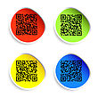 Modern Bar Codes. Set Of Labels With Qr Codes.