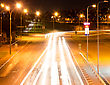 Glow Modern City Highway At Night. stock photography