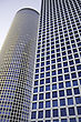 Modern Office Building, Azrieli Tower, Tel Aviv, Israel stock photo